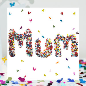 Mum Butterfly Birthday Card/ Butterfly Mum Card