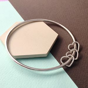 30th Birthday Silver Heart Bangle