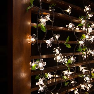 White LED Cherry Blossom Garland - lights & lanterns
