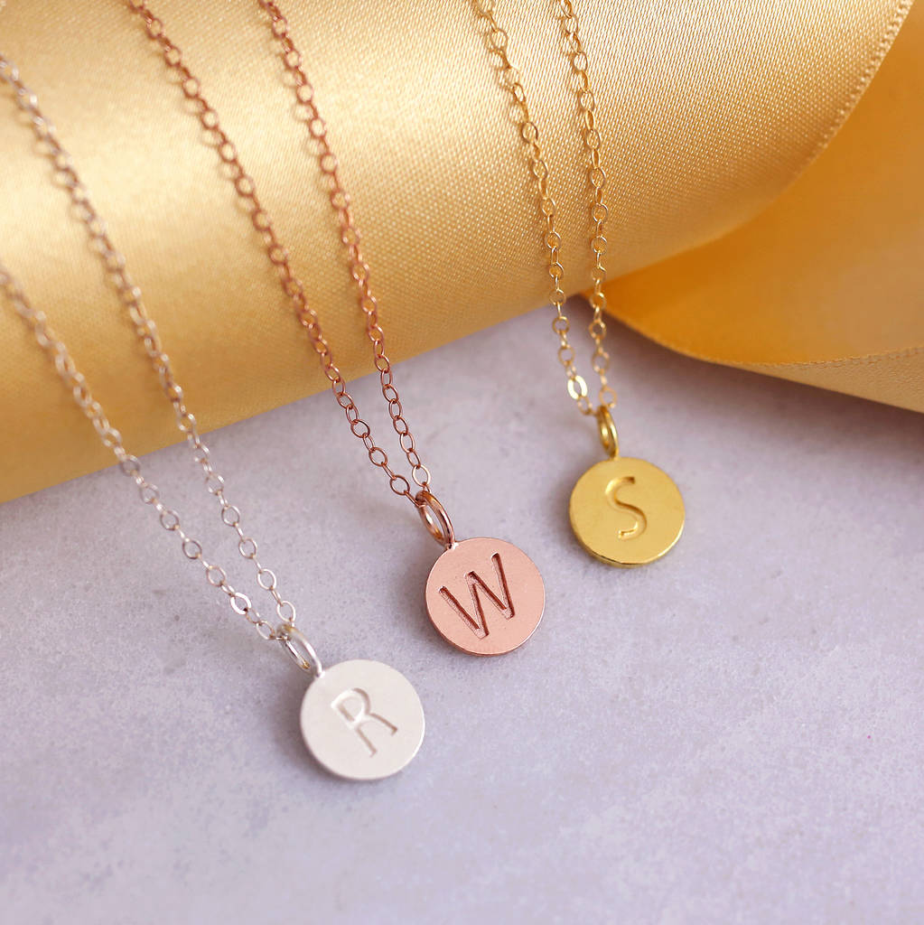 Personalised sterling silver disc initial necklace by js initial necklace personalised necklace initial necklaces initial necklace silver sterling silver initial aloadofball Images