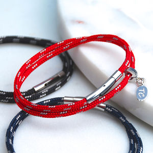Personalised Men's Skinny Sailing Cord Bracelet - jewellery sale