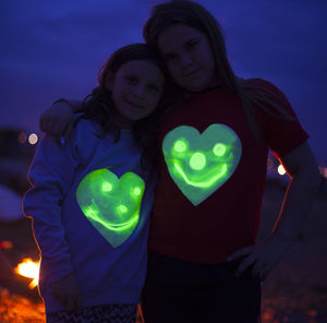 Heart Print Glow In The Dark Interactive T Shirt
