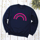Ladies Leopard Rainbow Sweatshirt With Neon Pink