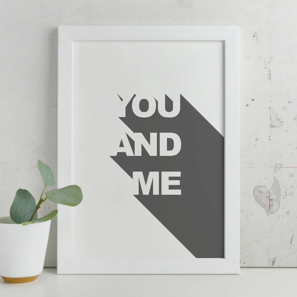 Contemporary 'You And Me' 3D Print