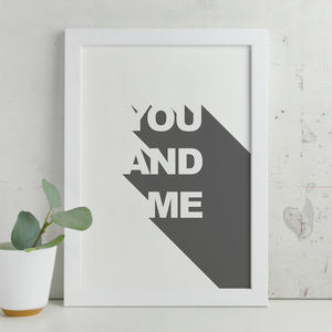 Contemporary 'You And Me' 3D Print - posters & prints