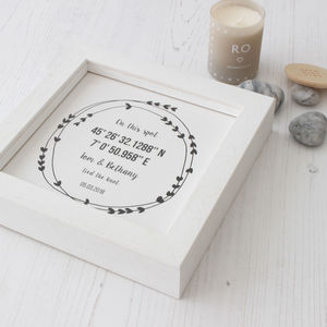 Personalised Coordinates Wedding Framed Gift - posters & prints