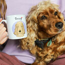 Personalised Dog Portrait Love Mug