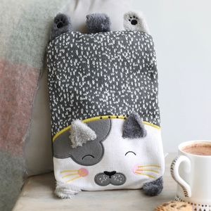 'Over The Moon' Cat Hot Water Bottle - bedding & accessories