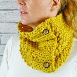 Hand Knitted Colourful Cowl - women's accessories