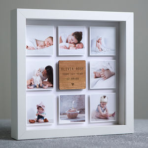 Personalised Framed Baby Photo Print - gifts for fathers
