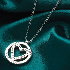 Personalised Heart Orbit Pendant - lovingly made jewellery
