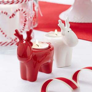 Reindeer Christmas Tea Light Holder - lanterns & votives