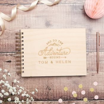 Personalised Wilderness Wedding Guest Book