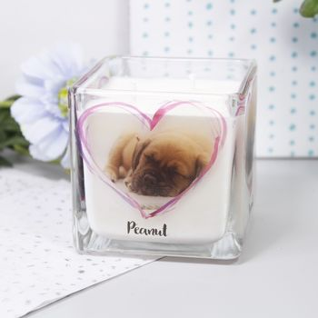 Pet Photo Scented Candle