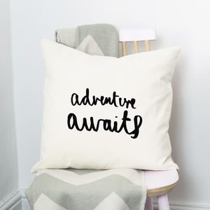 Adventure Awaits Cushion - bedroom