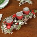 Forest Flurry Christmas Candle Centrepiece