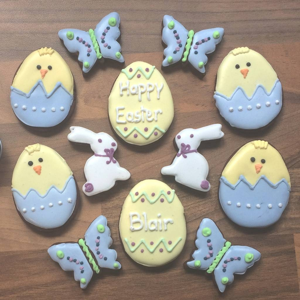 Personalised Easter Chick Cookie Tin