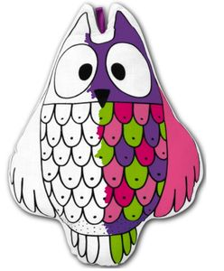 Colour In Owl Craft Kit Birthday Gift