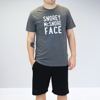 Personalised Snorey Mc Snore Face Pyjamas