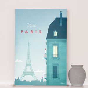 'Visit Paris' Travel Poster