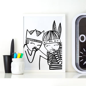 Queen Giggler Children's Print