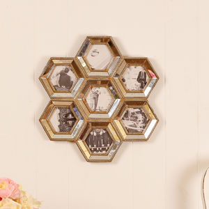 Honeycomb Mirrored Wall Frame - home accessories