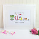 Personalised Festival Welly Boot Print