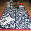 Shibori Diamonds Printed Cotton Rug