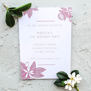 Botanical Personalised Invitation - invitations