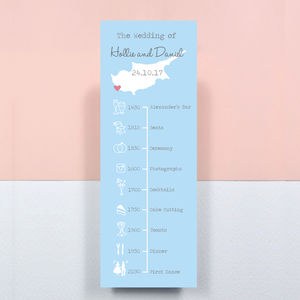 Wedding Order Of The Day Bookmark Timeline - little extras