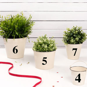 Wedding Table Number Bucket - table decorations