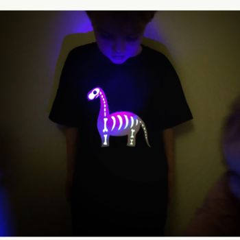 Glow In The Dark Dinosaur T Shirt