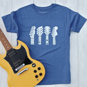 Guitar Headstocks T Shirt - gifts for teenage boys