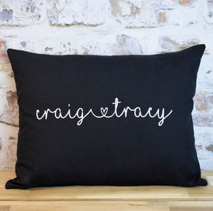 Personalised Names Love Cushion - bedroom