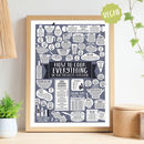 Personalised Vegan And Vegetarian Kitchen Print