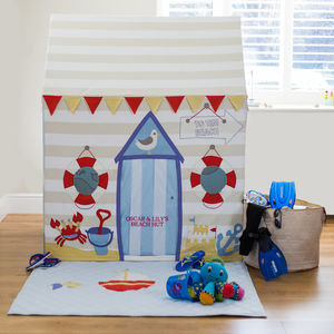 Large Children's Beach Hut And Seaside Playhouse