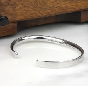 Silver Personalised Men's Bracelet - men's jewellery