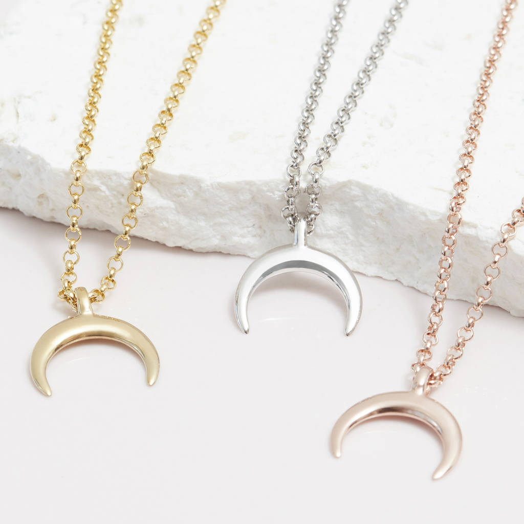 pendants diamond moon pendant yellow image crescent jewellery gold