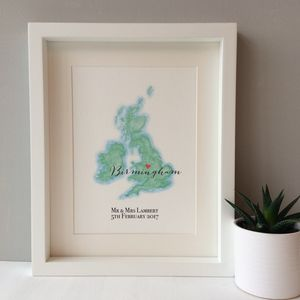 Personalised Wedding Map Print - best wedding gifts