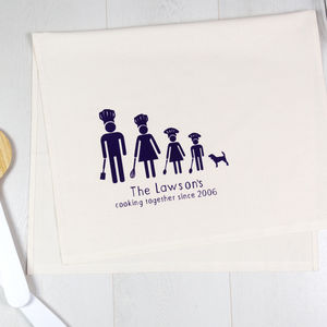 Personalised Chef Family Tea Towel