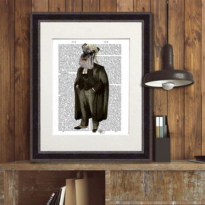 Schnauzer Lawyer, Book Print - pet portraits
