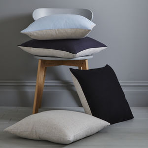 Contrast 100% Linen Cushion