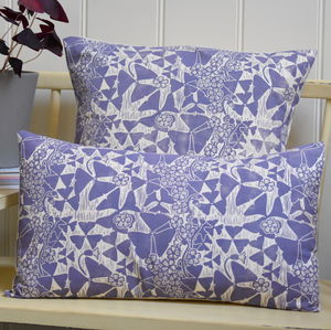 Oxalis Block Printed Cotton Cushions - cushions