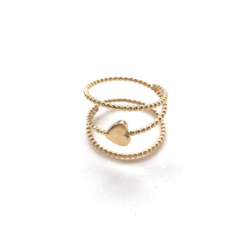 alice eden gold love heart bede spiral eternity ring minimalist