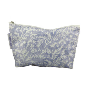 Cotton Lavender Oilcloth Wash & Make-Up Bags - bags & purses