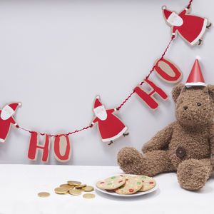 Ho Ho Ho Christmas Santa Bunting Decoration - garlands & bunting