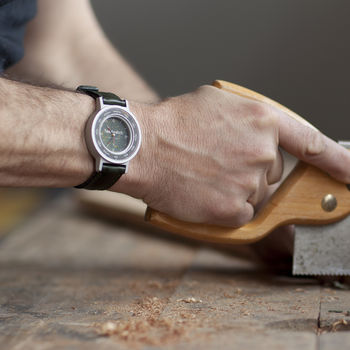 Lexi watch with woodworker