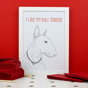 Personalised Bull Terrier Print - animals & wildlife