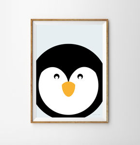 Penguin Children's Print - baby's room