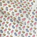 Blue + Pink Kitten wrapping paper